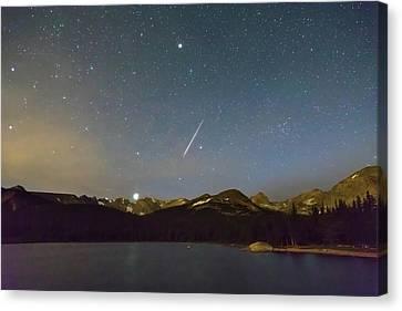 Perseid Meteor Shower Indian Peaks Canvas Print