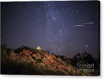 Perseids Over Caprock Canyons Canvas Print