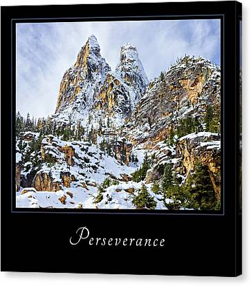 Canvas Print featuring the photograph Perserverance 1 by Mary Jo Allen