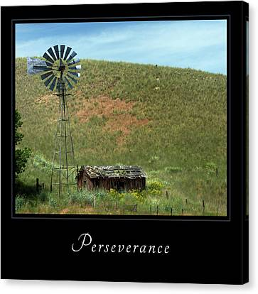 Canvas Print featuring the photograph Perserverance 2 by Mary Jo Allen
