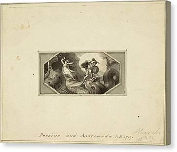 Perseus And Andromeda Canvas Print by Edward Francis Burney