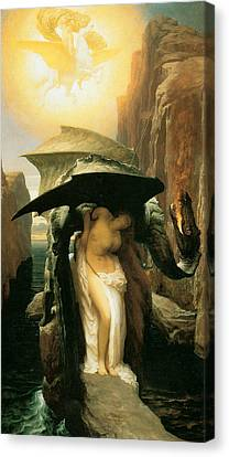 Perseus And Andromeda Canvas Print by Frederick Leighton