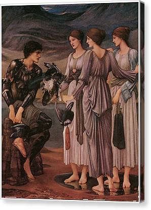 Perseus And The Sea Nymphs Canvas Print