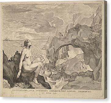 Perseus Delivering Andromeda Canvas Print by Claude Mellan