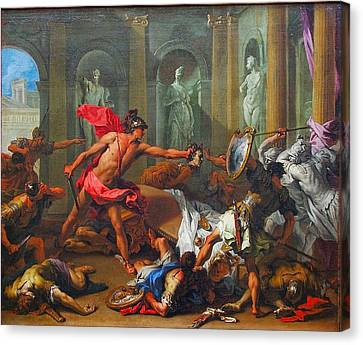 Perseus With The Head Of Medusa Canvas Print by MotionAge Designs