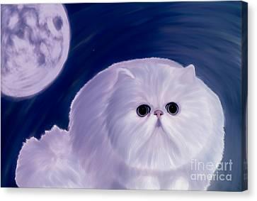 Full-length Portrait Canvas Print - Persian Cat  by Galambosi Tamas