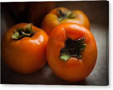 Passion Fruit Canvas Print - Persimmons by Karen Wiles