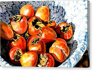 Persimmons Canvas Print by Nadi Spencer