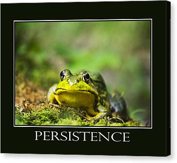 Persistence Inspirational Motivational Poster Art Canvas Print by Christina Rollo