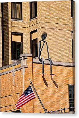 Person On Building 2 - Madison - Wisconsin Canvas Print