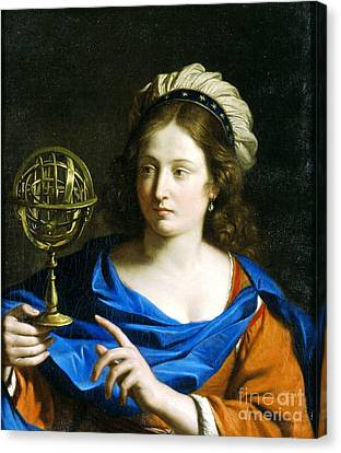 Canvas Print featuring the painting Personification Of Astrology by Pg Reproductions
