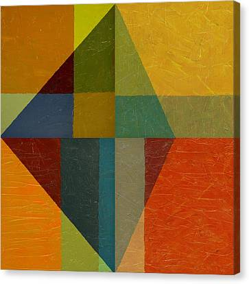 Perspective In Color Collage Canvas Print by Michelle Calkins