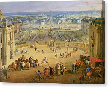 Perspective View From The Chateau Of Versailles Canvas Print by Jean-Baptiste Martin