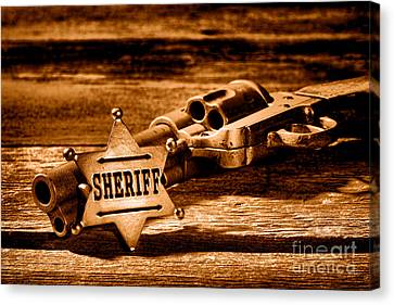 Law Enforcement Canvas Print - Persuasion - Sepia by Olivier Le Queinec