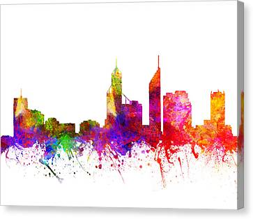 Skyline Canvas Print - Perth Australia Cityscape 02 by Aged Pixel