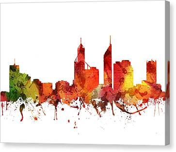 Perth Cityscape 04 Canvas Print by Aged Pixel