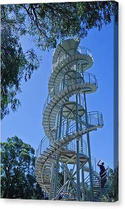 Perth Kings Park Double Helix Dna Tower  Canvas Print