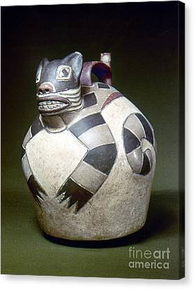 Peru: Nazca Whistling Jar Canvas Print by Granger