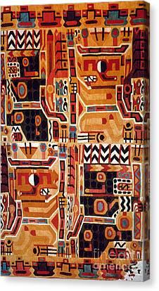 Peru: Tunic Fragment Canvas Print by Granger