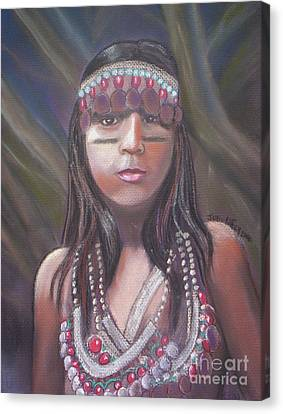 Peruvian Girl Canvas Print by Julie Brugh Riffey