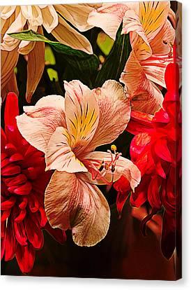 Peruvian Lily Grain Canvas Print by Bill Tiepelman