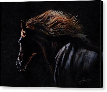 Canvas Print featuring the painting Peruvian Paso Horse by David Stribbling