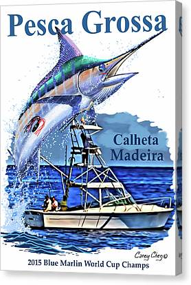 Pesca Grossa Canvas Print