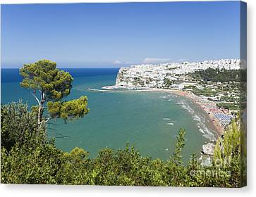 Peschici Italy Canvas Print by Wolfgang Steiner