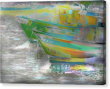 Canvas Print featuring the photograph Pesqueros by Alfonso Garcia