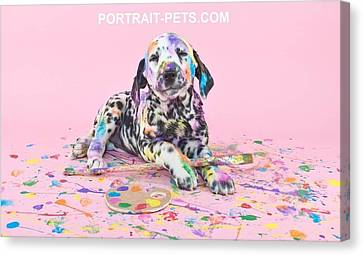 Pet Portraits With A Touch Of Humour Canvas Print by Pet Portrait