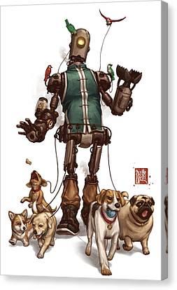Pet Walker Canvas Print by James Ng