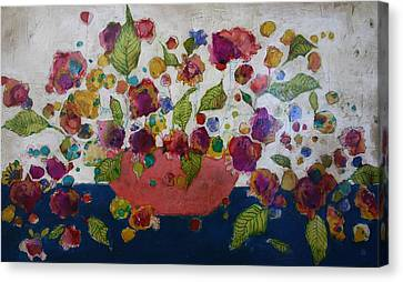 Petals And Leaves No. 2 Canvas Print by Jane Spakowsky