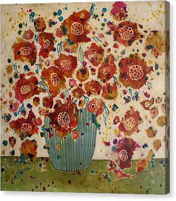 Petals And Leaves No. 4 Canvas Print by Jane Spakowsky