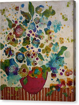 Petals And Leaves No. 5 Canvas Print by Jane Spakowsky