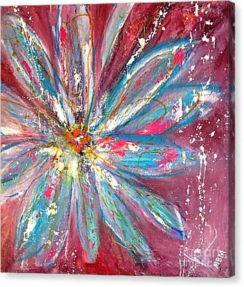Petals Exploding Canvas Print