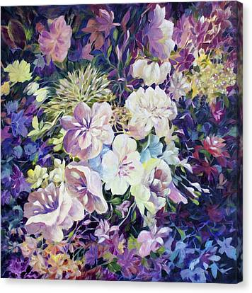 Canvas Print featuring the painting Petals by Joanne Smoley