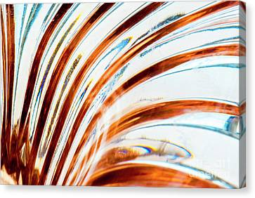 Canvas Print featuring the photograph Petals Of Glass by Wendy Wilton