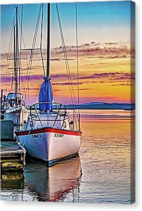 Canvas Print - Petaluma River Sunrise by Bill Gallagher