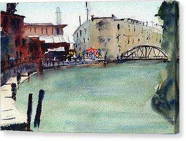 Petaluma Turning Basin Canvas Print by Tom Simmons