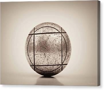 Petanque Ball Canvas Print by Wim Lanclus