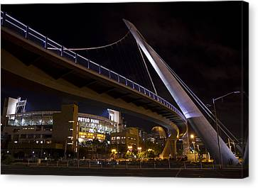 Canvas Print featuring the photograph Petco Park And The Pedestrian Bridge by Nathan Rupert
