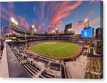 San Diego California Baseball Stadiums Canvas Print - Petco Park - Farewell To 2015 Season by Mark Whitt
