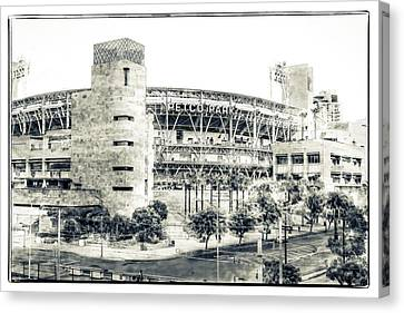 San Diego California Baseball Stadiums Canvas Print - Petco Park by Nancy Forehand Photography