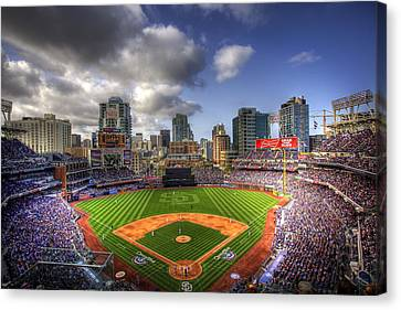 Baseball Fields Canvas Print - Petco Park Opening Day by Shawn Everhart