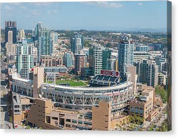 San Diego California Baseball Stadiums Canvas Print - Petco Park by Pamela Williams