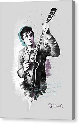 Alternative Music Canvas Print - Pete Doherty A Little Death Around The Eyes by BONB Creative