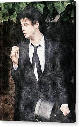 Alternative Music Canvas Print - Pete Doherty Digital Painting by BONB Creative