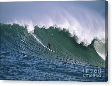 Pete On A Perfect Day At Mavericks Canvas Print
