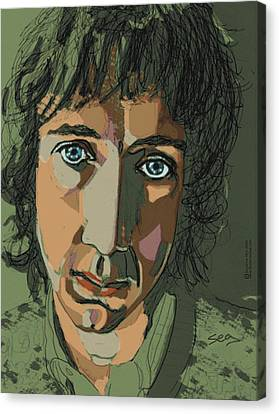 Pete Townshend - Behind Blue Eyes  Canvas Print by Suzanne Gee