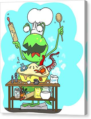 Peter And The Closet Monster, Baker Canvas Print by Konni Jensen